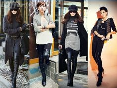 winter sexy womens high heels leather long knee boots