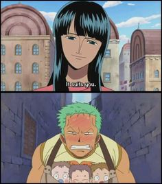 Robin and Zoro <<< I'll be honest, this scene is what got me semi-shipping Zoro and Robin