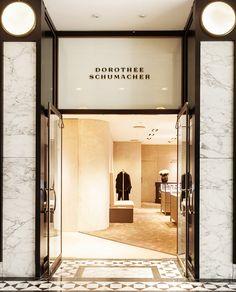 Dorothee Schumacher Identity by Deutsche & Japaner Studio via Hatch Inc. Creative Studio, Retail Facade, Signage Display, Wayfinding Signage, Retail Interior, Facade Design, Shop Interiors, Retail Shop, London