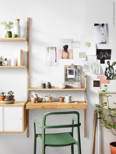 So make sure you design your home office exactly how you want from the perfect colors. See more ideas about Desk, Home office decor and Home Office Ideas. Design Your Home, Home Office Design, Home Office Decor, House Design, Office Ideas, Office Designs, Svalnäs Ikea, Desks For Small Spaces, Vintage Grunge