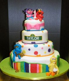 Abby Cadabby, Elmo & Friends Birthday Cake                              …
