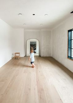 """One of the biggest """"Phase improvements we made was updating the floors throughout the house. the dining room was tiled (the most beautiful checkerboard - still so in love); Cost Of Wood Flooring, Plank Flooring, Küchen Design, House Design, Wood Floor Installation, Wood Floor Design, Hardwood Floor Colors, Bedroom Flooring, Bedroom Floor Tiles"""