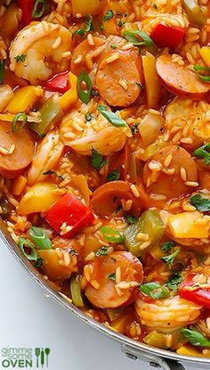 Jambalaya. This is an easy recipe. use chicken instead of shrimp