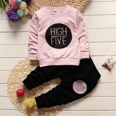 High Five Clothing Set [6M-5T] 24.99 CAD Baby Mermaid Outfit, Baby Dress, Baby Boy Outfits, Kids Outfits, Baby Boy Clothing Sets, Children Clothing, Children Wear, Infant Clothing, Long Sleeve Outfits