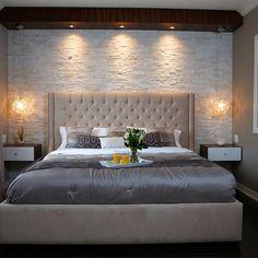 Stone Master Bedroom - modern - Bedroom - Toronto - Paul Lafrance Design