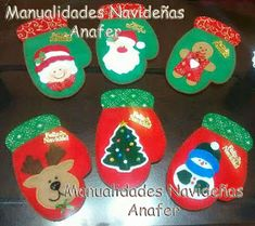 Manualidades Anafer: Moldes Christmas Napkin Folding, Christmas Napkins, Christmas Items, Christmas Crafts, Merry Christmas, Christmas Ornaments, Xmas Tree Decorations, Felt Ornaments, Felt Crafts