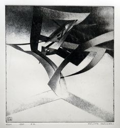 Intention monumentale 1501 by Philippe Chesneau - Héliogravure not toxic engraving - tirage print vieille Hollande H L 21 x 20 cm