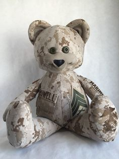 Military Bear Memory Bear by MakingitBearable on Etsy