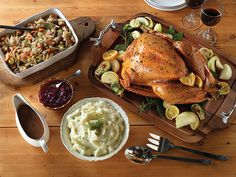 If you're a traditionalist at heart, you'll love our classic holiday menu which features roast turkey, mashed potatoes, dressing and cranberry sauce. Make the cranberry sauce up to 5 days ahead and the dressing the day before to save time on the big day!