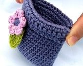 Pattern Crochet Coin Purse Squeeze Pinch Frame with Flower. $4.89, via Etsy.