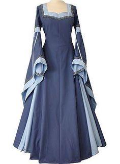My Favorite Sanctuary — Vintage Royal Medieval Dresses - Blue Elegant Dresses, Casual Dresses For Women, Dresses For Work, Blue Dresses, Vintage Dresses, Sexy Blouse, Medieval Dress, Cosplay Dress, Gothic Dress