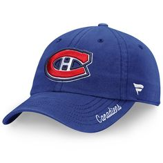 Montreal Canadiens Fanatics Branded Women s Fundamental Adjustable Hat -  Royal  MontrealCanadiens Hats Online eeba633b0181
