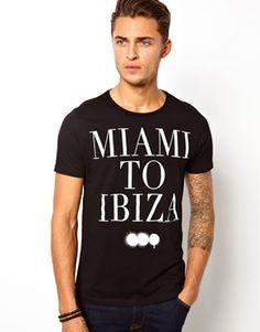 ASOS T-Shirt With Miami To Ibiza Print