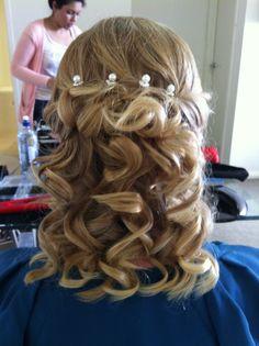 spiral Ghd curls/wedding hair Girls Hairdos, Pageant Hair, Flat Iron Curls, Bridesmaid Hair, Bridesmaids, Hair Upstyles, Curl Curl, Ghd, Hair Inspo