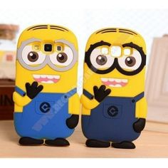 Carcasa 3D divertida diseño Minions para Samsung Galaxy A3