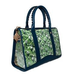 Crystal Bicolor Brilliant-green Blue http://federicalunello.com #federicalunello #bags #accessories #handmade #madeinitaly