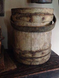 The Best Early Firkin Bucket in Original Putty Sage Paint | eBay