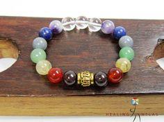 7 Chakra Om Mani Padme Mantra Mala Bracelet Balance 7 Chakra Healing Bracelet 7 Chakra Energy Bracelet Gemstone Yoga Meditation Bracelet