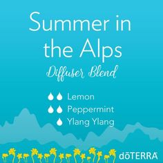 doTERRA Essential Oils Summer in the Alps Diffuser Blend