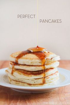 The best, most perfect pancakes ever! www.thebakerupstairs.com