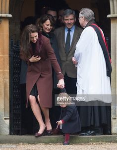 Catherine Duchess of Cambridge Princess Charlotte of Cambridge Carole Middleton and Michael Middleton attend a Christmas Day service at St Marks...