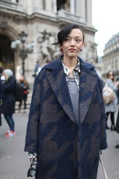 Milan Fashion Week street style.  Photo by Kuba Dabrowski   Full Size    More Slideshows               Paris Fashion Week Street Style