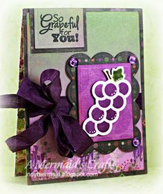 A Mermaid's Crafts: So Grapeful For You ~ indymermaid.blogspot.com