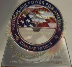 81st Medical Group air force coin bottle opener cut out Custom Challenge Coin by Phoenix Challenge Coins
