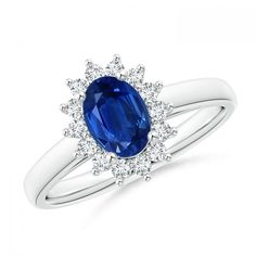 Make a statement with this Princess Diana Inspired Blue Sapphire Ring with Diamond Halo from Angara.com. Explore a fascinating array of designs