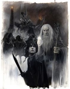 Gandalf y Frodo #TheLordOfTheRings