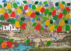 Cajueiro e lazer, 2000 Edson Lima (Brasil, 1936-2000) óleo sobre tela, 50 x 67 cm