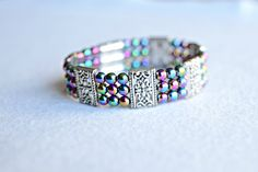 RAINBOW MAGNETIC BRACELET a cuff magnetic by AussemBoutique