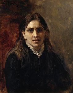'Actrice Pelageya Antipovna Strepetova', 1882 / Ilja Repin (1844-1930) / Tretjakovgalerij, Moskou, Rusland.