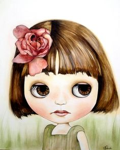 Blythe+doll+art+print++4+x+5+inches+by+PrintIllustrations+on+Etsy,+$12.00