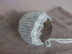 Mohair Bonnet in 43 colours Newborn  photo by LavenderBlossoms, $24.00