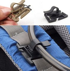 EDCGEAR 5Pcs/lot water pipe clamps fixed rotation snaps buckle for outdoor clip package EDC DIY tool Bag Parts & Accessories.