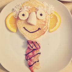 Prophet pancakes! Fun general conference breakfast tradition to do with the kids.