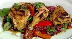 the chew | Recipe  | Michael Symon's Grilled Chicken With Ratatouille
