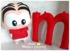 ♡ Mônica Toy ♡ Fofurinha em feltro.   www.facebook.com/ateliemimos.e.encantos1