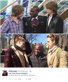 <b>Zack, Cody, and Mr. Moseby back together once again.</b>