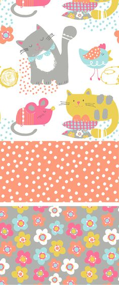 wendy kendall designs – freelance surface pattern designer » cat and mouse