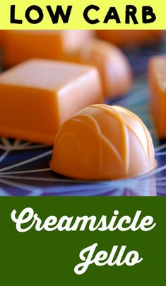 Low Carb Keto Orange Creamsicle Gummies - Resolution Eats These low carb orange creamsicle gummies have just net carbs per serving. Low Carb Candy, Keto Candy, Low Carb Sweets, Low Carb Desserts, Keto Jello Recipe, Jello Recipes, Candy Recipes, Recipies, Pudding Recipes