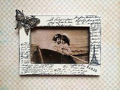 Rámiky - Shabby vintage fotorámik 10x15 - 4803673_