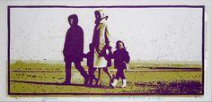 «Les archives de Monsieur X», Ostduinkerke 2004-2005, 61 x 31 cm, collage sur transparents espacé