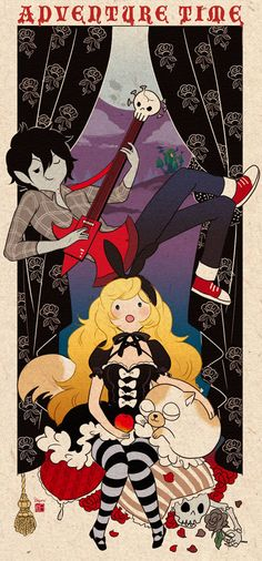 Cake, Marshall Lee x Fionna from Adventure Time