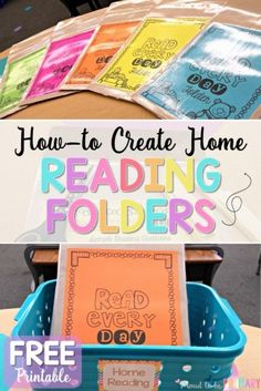 Classroom organization tips and ideas for teachers setting up a classroom and home reading program. Read the tips for setting up a reading program for children using Daily 5, using leveled readers and book baskets. Create student reading folders with a FREE parent hand-out printable. #earlyliteracy #literacy #teachingreading #kindergarten #firstgrade #classroomorganization #teacherfreebie