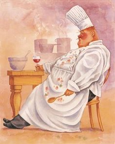 Art deco cuisiniers , maitres d'hotel..