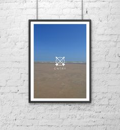 #1066 #CNTRY #ten #sixty #six #county #print #design #photograph #photography #photographic #beach #sand #sea #sky #footprints #foot #prints #art #Ash #Allwood #blue #brown #coast #water #nature #branded #colour
