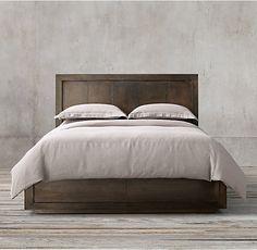 La Salle Metal-Wrapped Platform Bed