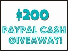 Be the lucky winner to receive $200 Paypal Cold Cash in this Worldwide Giveaway.